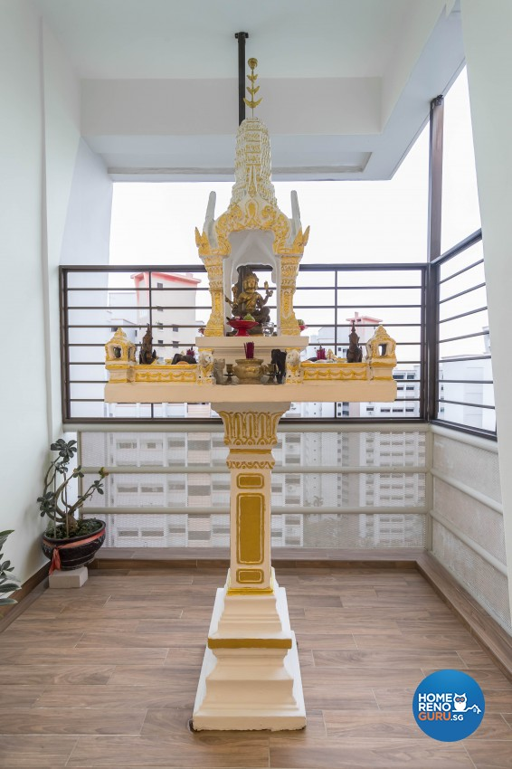 Modern, Oriental Design - Balcony - HDB 5 Room - Design by LOME Interior