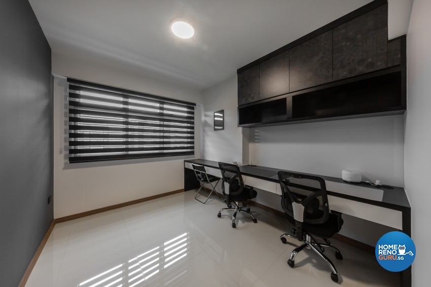 Contemporary, Modern Design - Study Room - HDB 4 Room - Design by LOME Interior