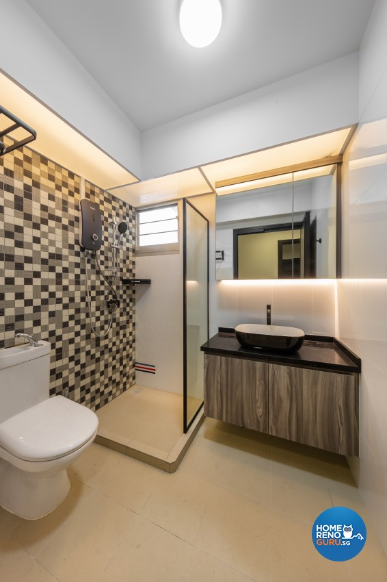 Contemporary, Modern Design - Bathroom - HDB 4 Room - Design by LOME Interior