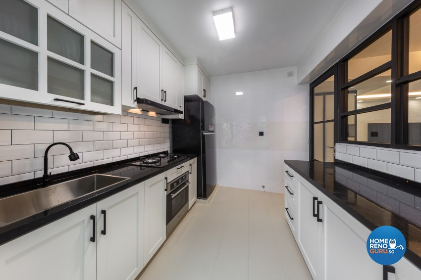 Contemporary, Modern Design - Kitchen - HDB 4 Room - Design by LOME Interior