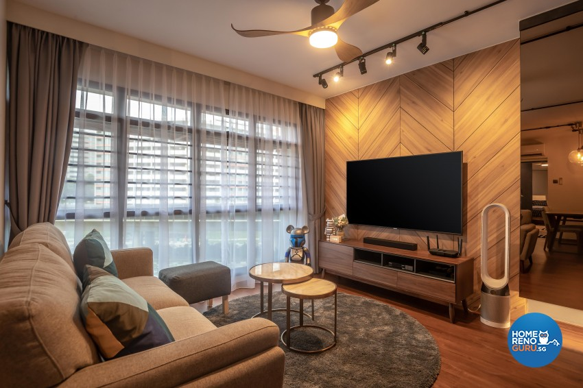 Contemporary, Eclectic, Modern Design - Living Room - HDB 4 Room - Design by LOME Interior