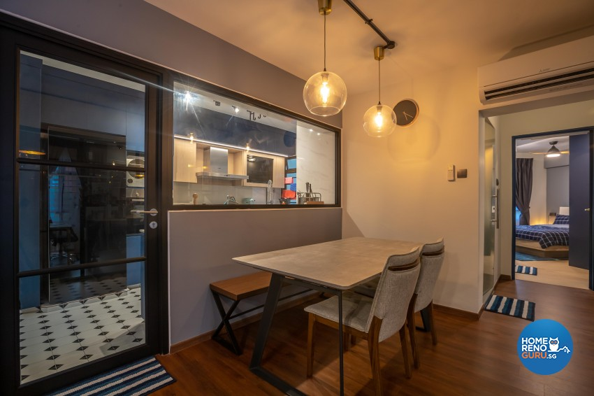 Contemporary, Eclectic, Modern Design - Dining Room - HDB 4 Room - Design by LOME Interior