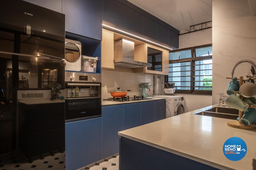 Contemporary, Eclectic, Modern Design - Kitchen - HDB 4 Room - Design by LOME Interior
