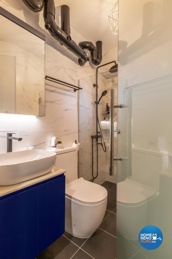 Contemporary, Eclectic, Modern Design - Bathroom - HDB 4 Room - Design by LOME Interior