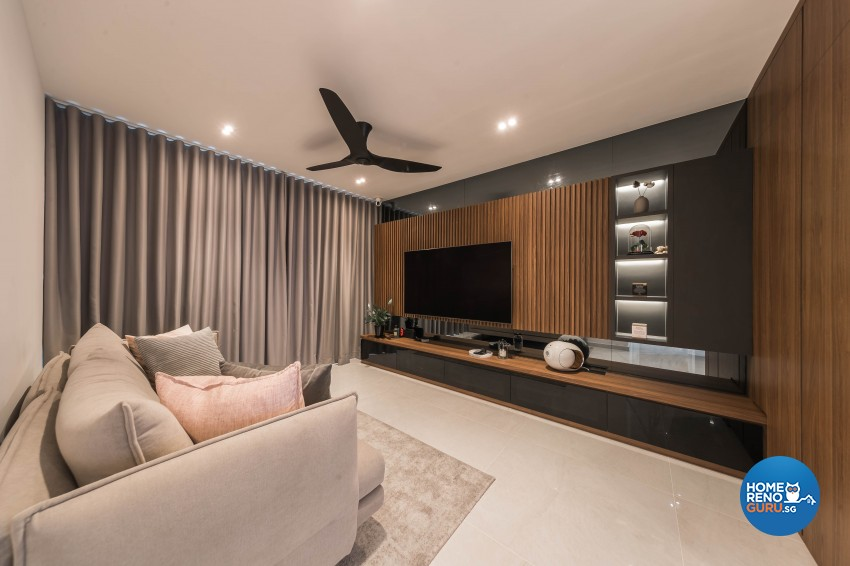 Contemporary Design - Living Room - HDB 4 Room - Design by LOME Interior