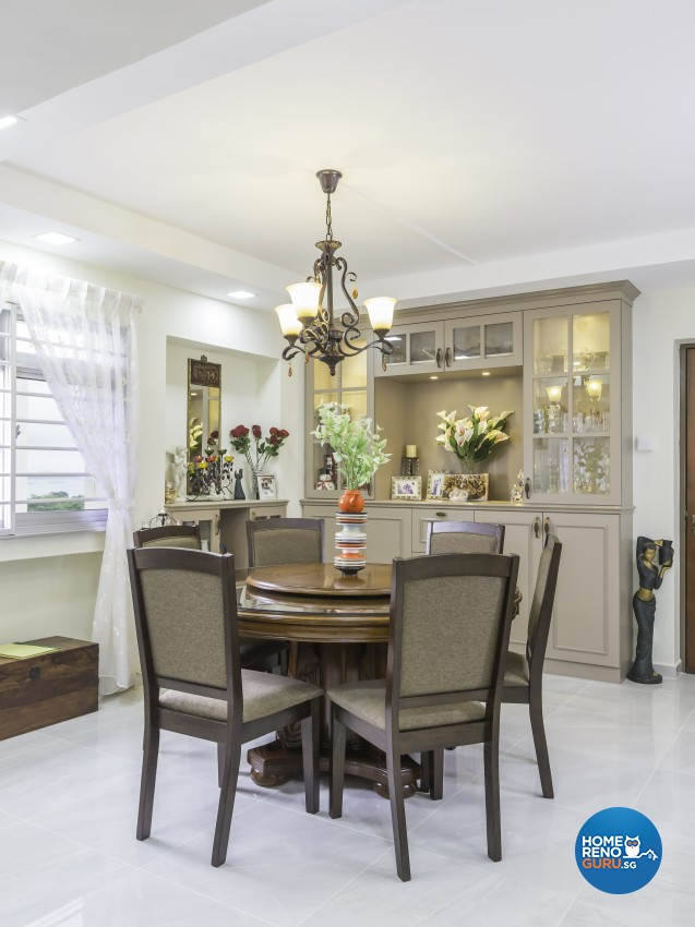 Modern, Victorian Design - Dining Room - HDB 4 Room - Design by LOME Interior