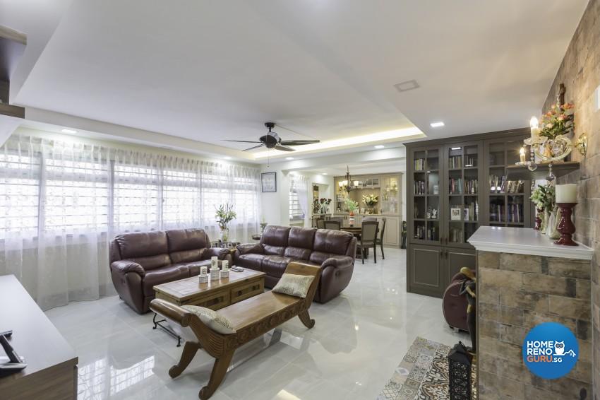 Modern, Victorian Design - Living Room - HDB 4 Room - Design by LOME Interior