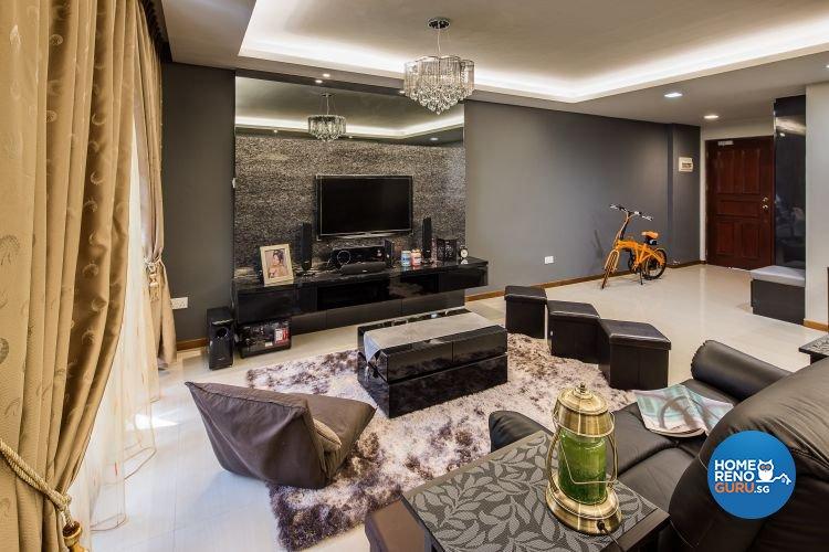 Contemporary, Modern Design - Living Room - HDB 5 Room - Design by LOME Interior