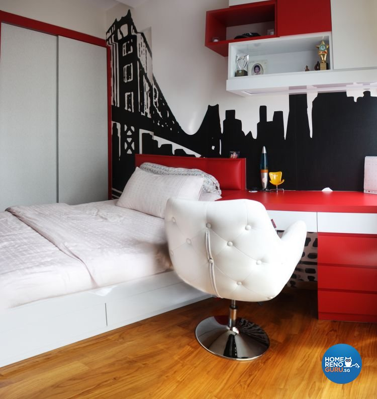 Contemporary, Retro Design - Bedroom - Condominium - Design by LOME Interior