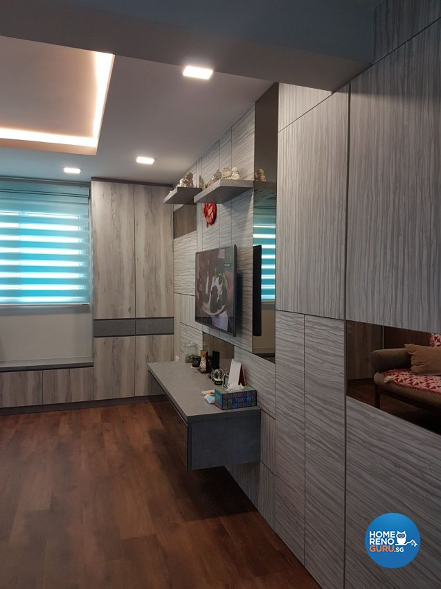 Country, Modern Design - Living Room - HDB 3 Room - Design by LOME Interior