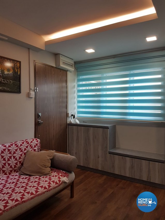 Country, Modern Design - Balcony - HDB 3 Room - Design by LOME Interior