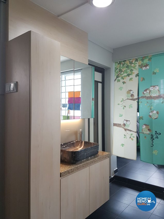 Country, Modern Design - Kitchen - HDB 3 Room - Design by LOME Interior