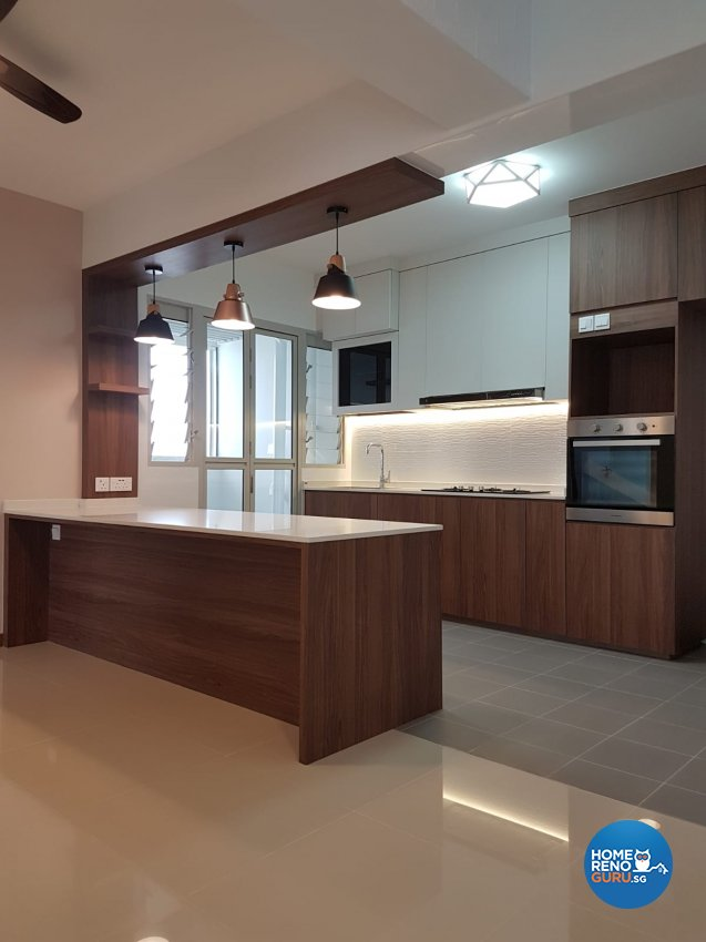 Contemporary, Minimalist, Scandinavian Design - Kitchen - HDB 5 Room - Design by LOME Interior