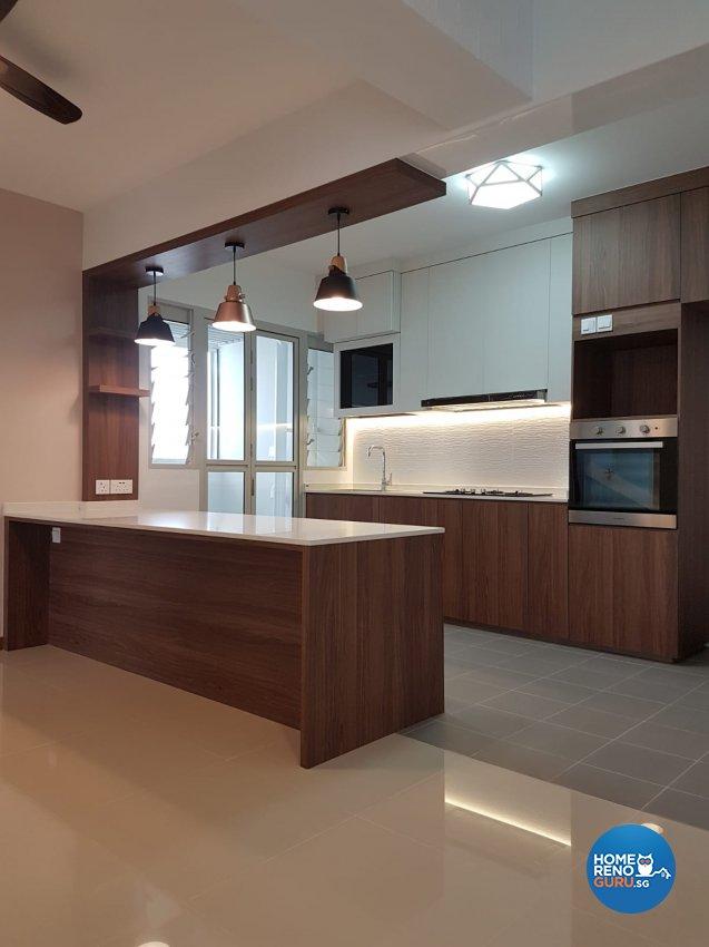 Contemporary, Minimalist, Scandinavian Design - Kitchen - HDB 5 Room - Design by LOME Interior