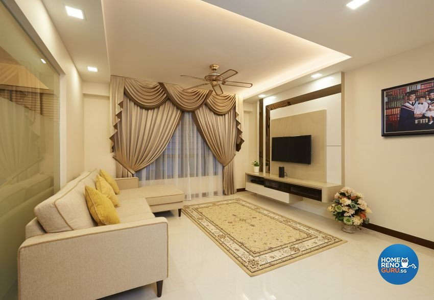 Modern Design - Living Room - HDB 5 Room - Design by LOME Interior