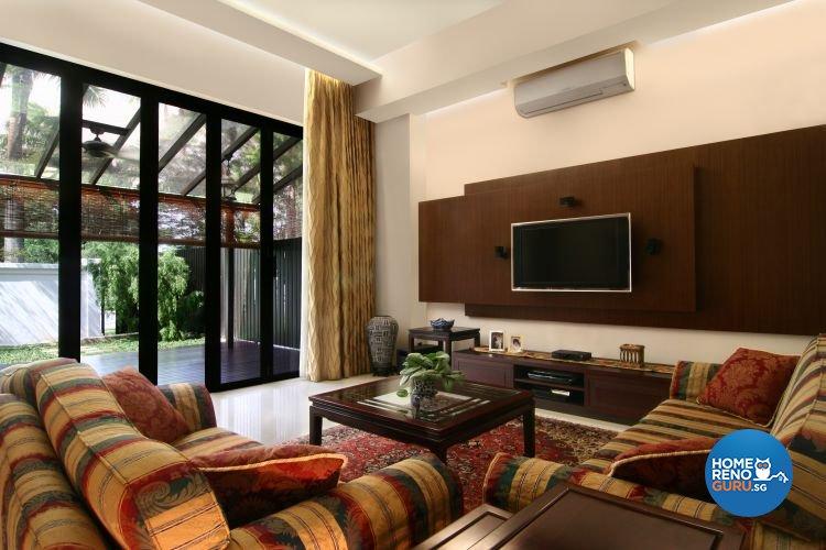 Resort, Tropical Design - Living Room - Landed House - Design by LOME Interior