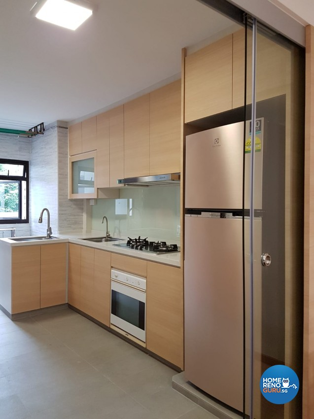 Country Design - Kitchen - HDB 4 Room - Design by LOME Interior