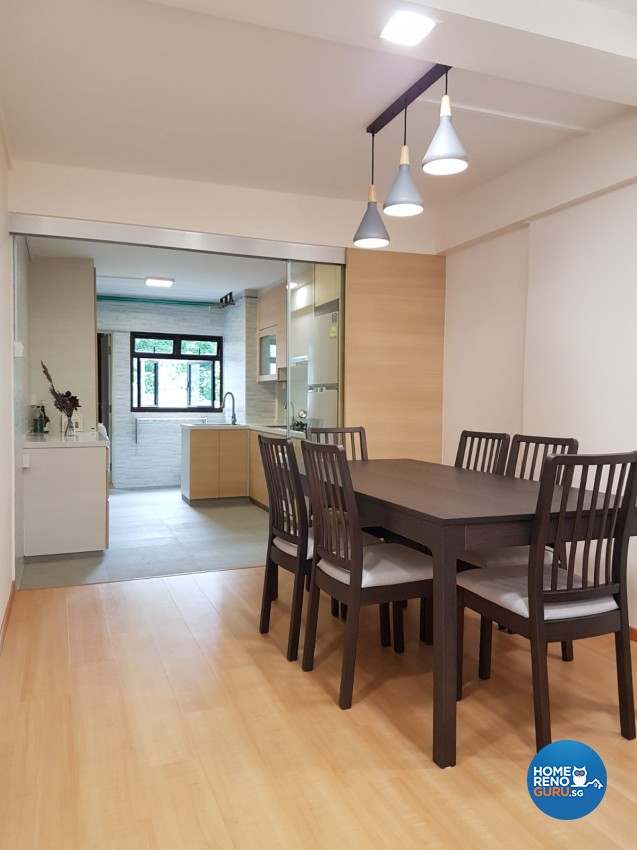 Country Design - Dining Room - HDB 4 Room - Design by LOME Interior