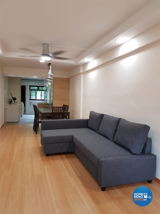 Country Design - Living Room - HDB 4 Room - Design by LOME Interior