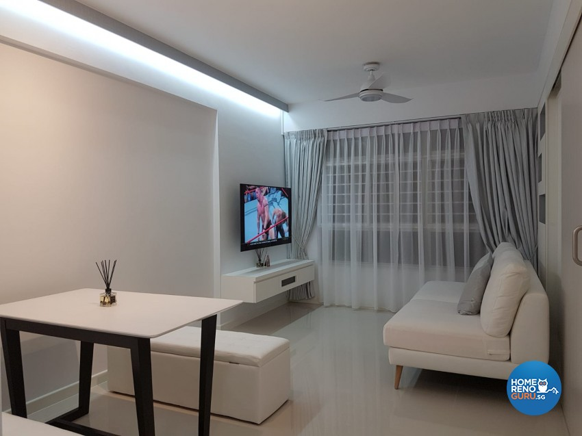 Contemporary, Minimalist Design - Living Room - HDB Studio Apartment - Design by LOME Interior