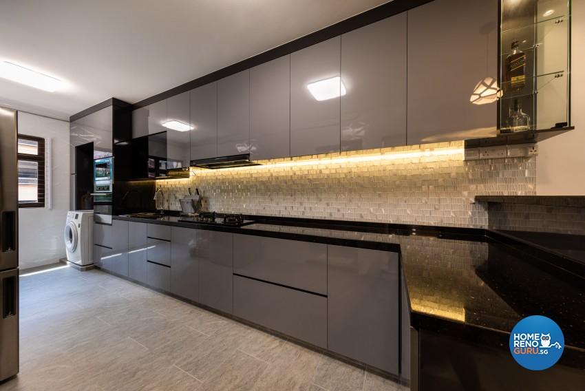 Contemporary, Modern Design - Kitchen - HDB 5 Room - Design by LOME Interior