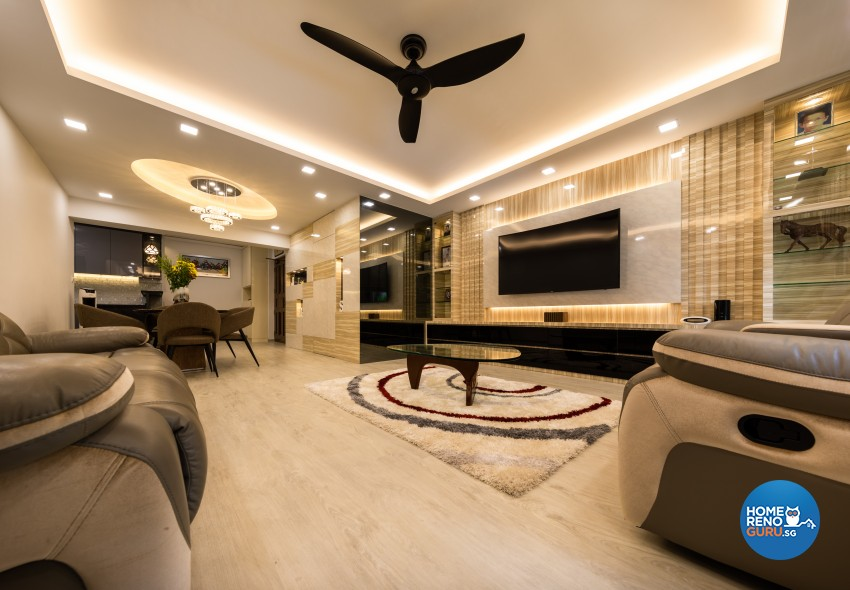 Contemporary, Modern Design - Living Room - HDB 5 Room - Design by LOME Interior