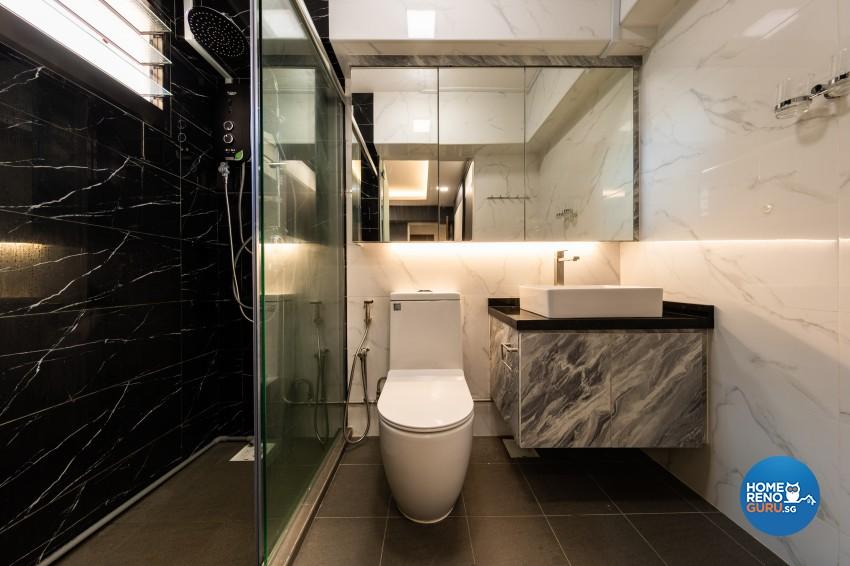 Contemporary, Modern Design - Bathroom - HDB 5 Room - Design by LOME Interior