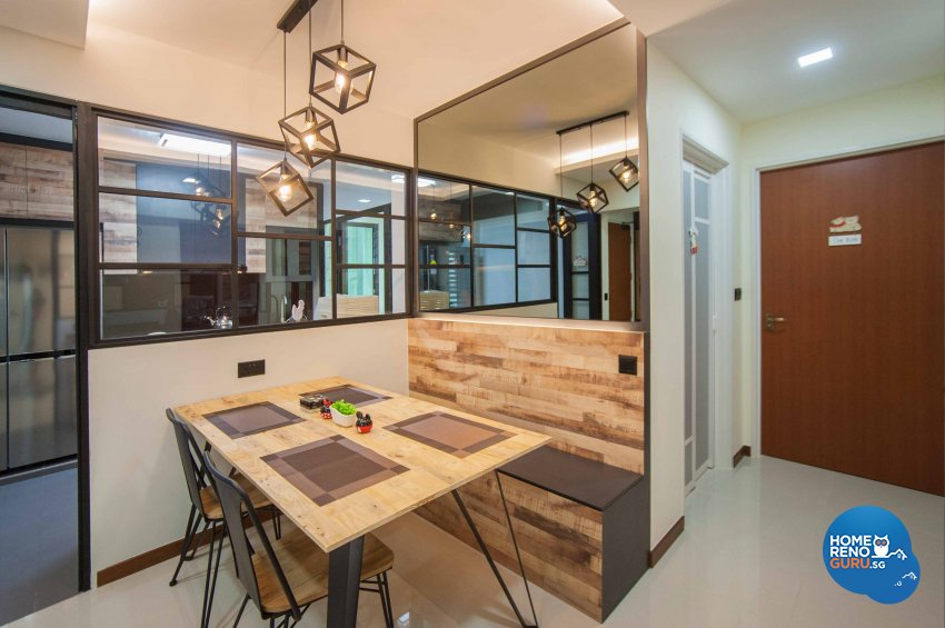Modern, Resort, Rustic Design - Dining Room - HDB 4 Room - Design by LOME Interior