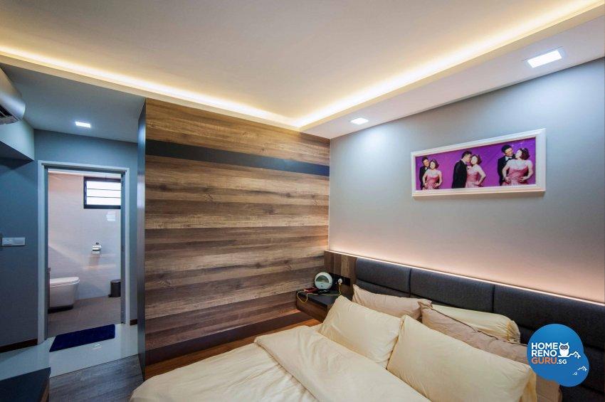 Modern, Resort, Rustic Design - Bedroom - HDB 4 Room - Design by LOME Interior
