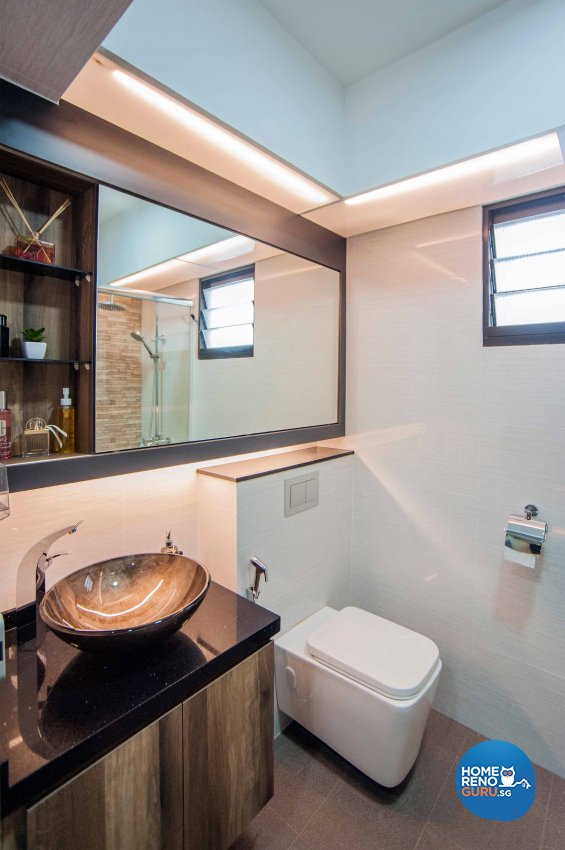 Modern, Resort, Rustic Design - Bathroom - HDB 4 Room - Design by LOME Interior
