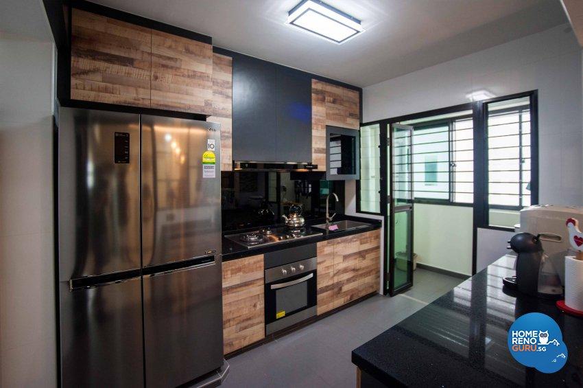 Modern, Resort, Rustic Design - Kitchen - HDB 4 Room - Design by LOME Interior