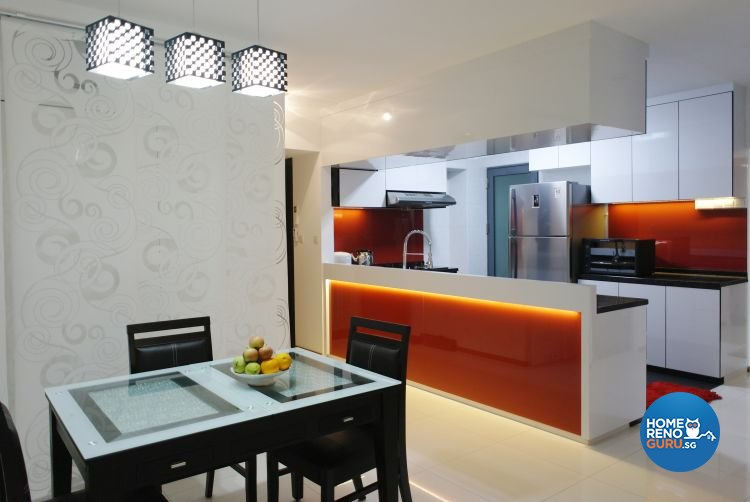 Contemporary, Modern Design - Dining Room - HDB 4 Room - Design by Luck Ann Construction and Renovation