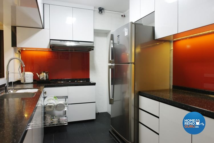 Contemporary, Modern Design - Kitchen - HDB 4 Room - Design by Luck Ann Construction and Renovation