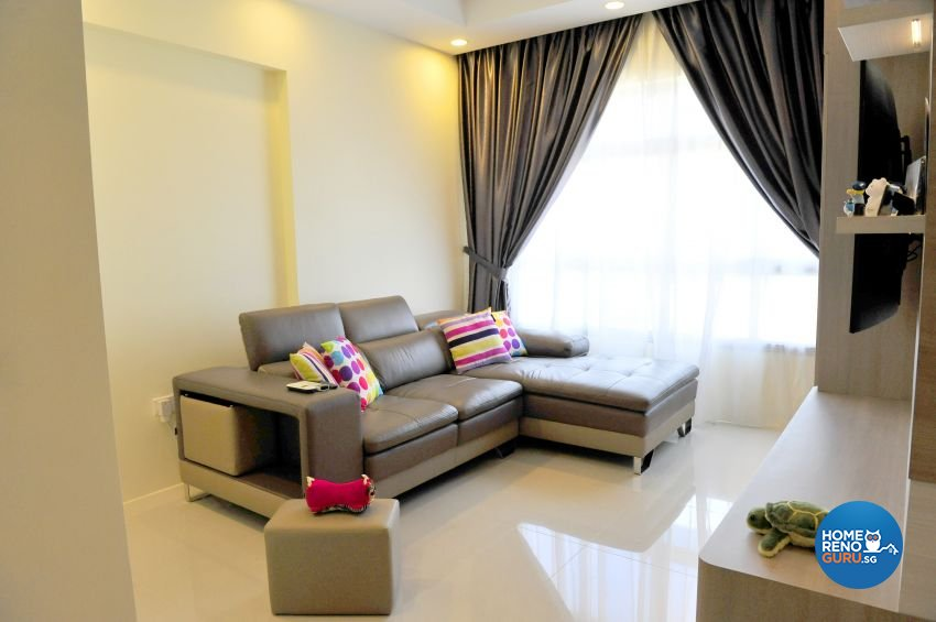 Modern Design - Living Room - HDB 4 Room - Design by Luck Ann Construction and Renovation