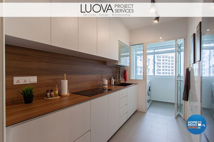 Minimalist, Scandinavian Design - Kitchen - HDB 4 Room - Design by Luova Project Services