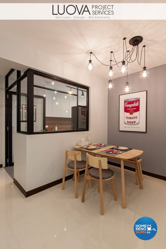 Minimalist, Scandinavian Design - Dining Room - HDB 4 Room - Design by Luova Project Services