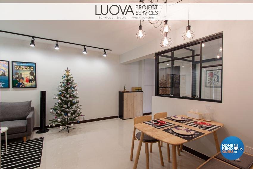 Minimalist, Scandinavian Design - Dining Room - HDB 4 Room - Design by Luova Project Services