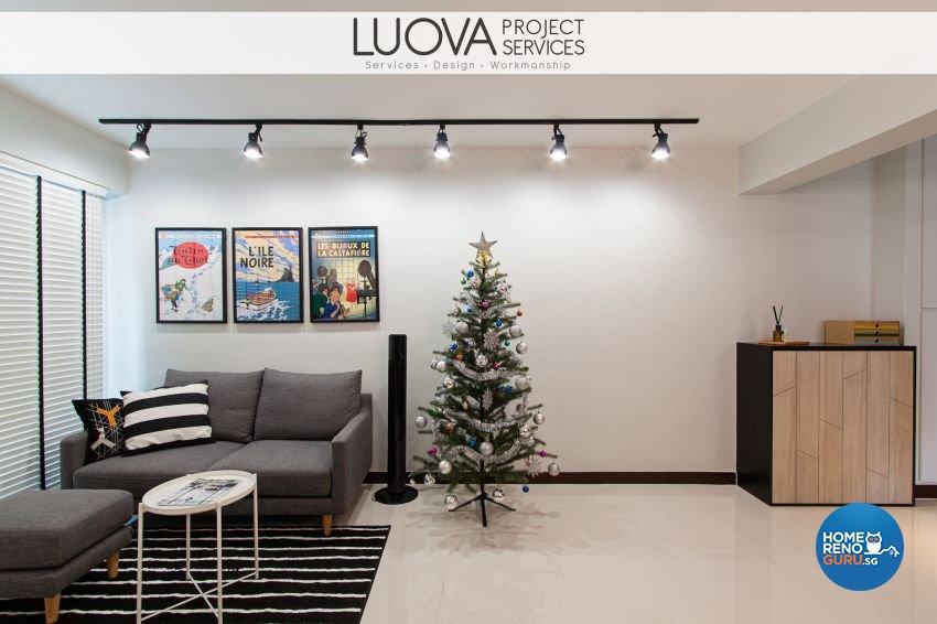 Minimalist, Scandinavian Design - Living Room - HDB 4 Room - Design by Luova Project Services