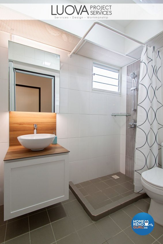 Minimalist, Scandinavian Design - Bathroom - HDB 4 Room - Design by Luova Project Services