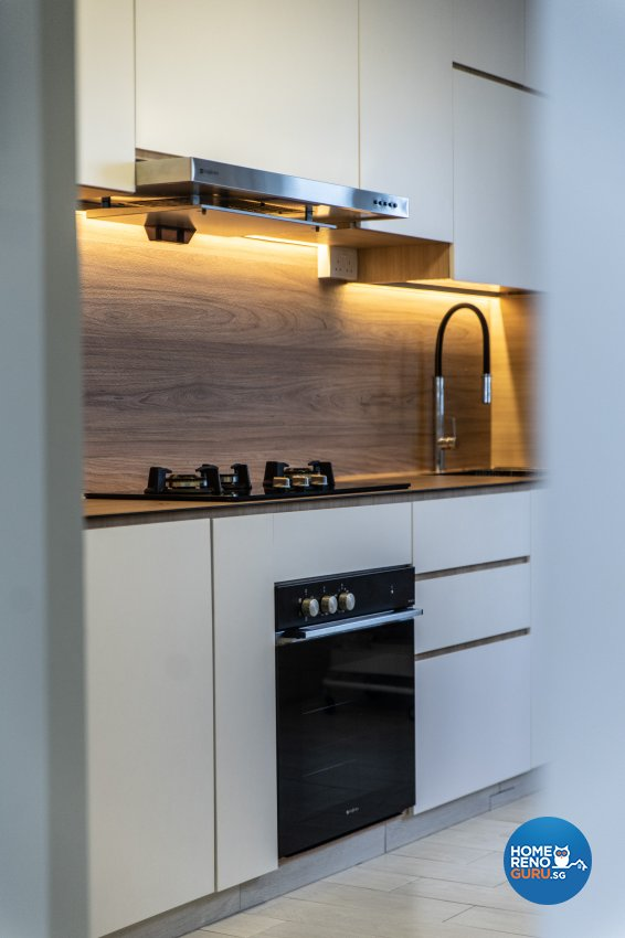 Minimalist, Modern Design - Kitchen - HDB 3 Room - Design by Luova Project Services