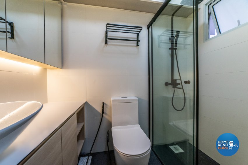 Minimalist, Modern Design - Bathroom - HDB 3 Room - Design by Luova Project Services