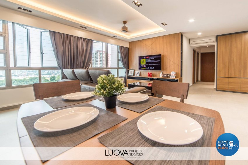 Resort Design - Dining Room - HDB 5 Room - Design by Luova Project Services