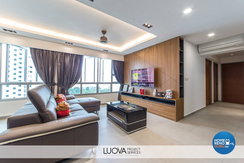 Resort Design - Living Room - HDB 5 Room - Design by Luova Project Services