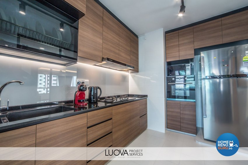 Resort Design - Kitchen - HDB 5 Room - Design by Luova Project Services