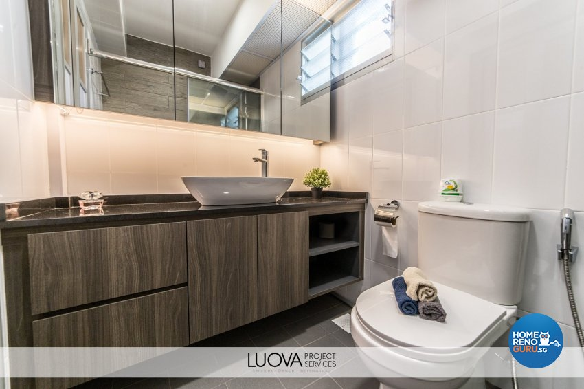 Resort Design - Bathroom - HDB 5 Room - Design by Luova Project Services