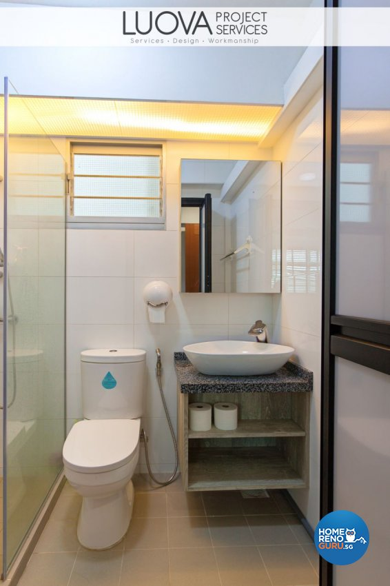 Scandinavian Design - Bathroom - HDB 4 Room - Design by Luova Project Services
