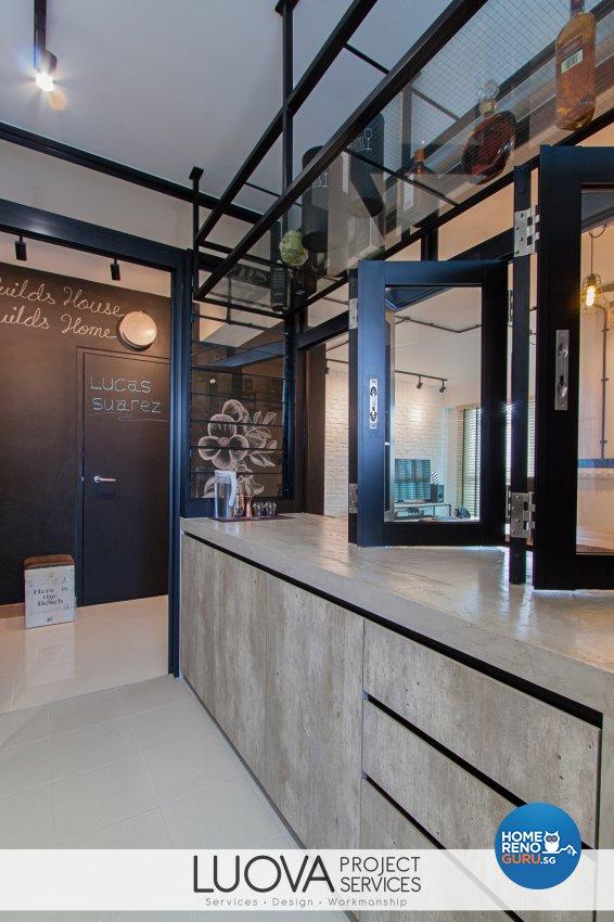 Industrial, Scandinavian Design - Kitchen - HDB 4 Room - Design by Luova Project Services