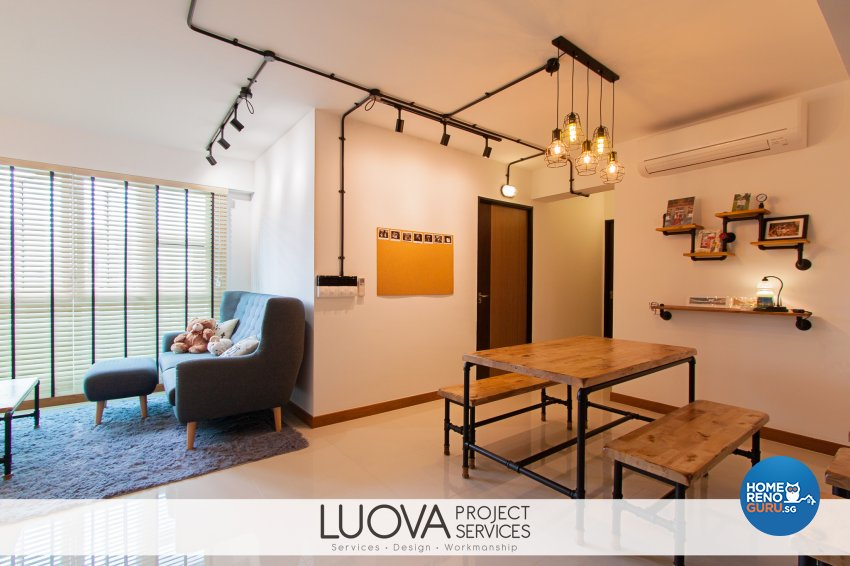 Industrial, Scandinavian Design - Dining Room - HDB 4 Room - Design by Luova Project Services