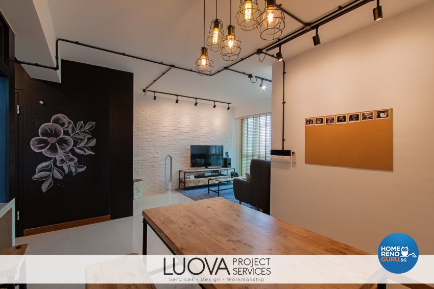 Industrial, Scandinavian Design - Living Room - HDB 4 Room - Design by Luova Project Services