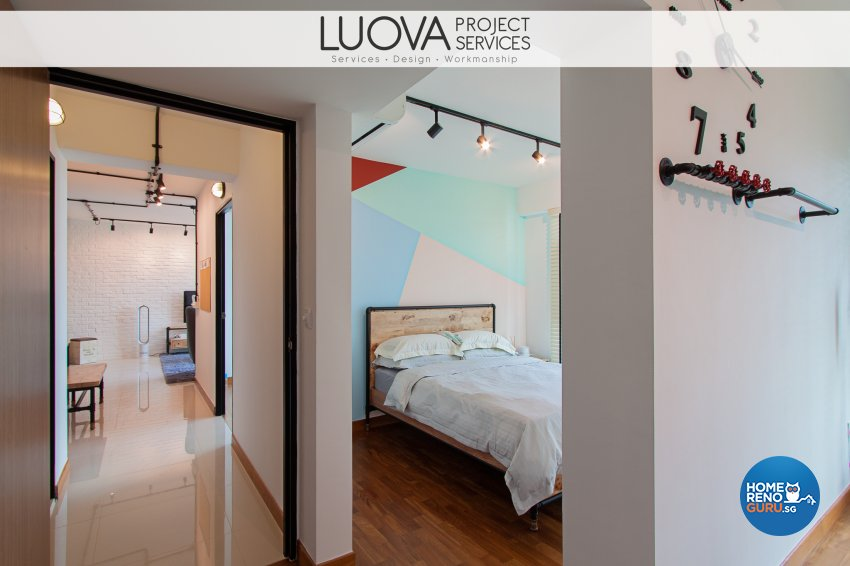 Industrial, Scandinavian Design - Bedroom - HDB 4 Room - Design by Luova Project Services